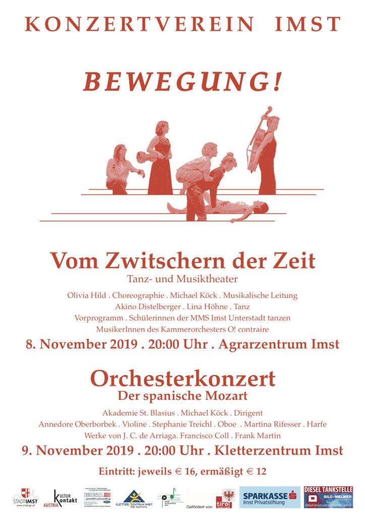 Bewegung Konzertverein Imst 2019 Plakat