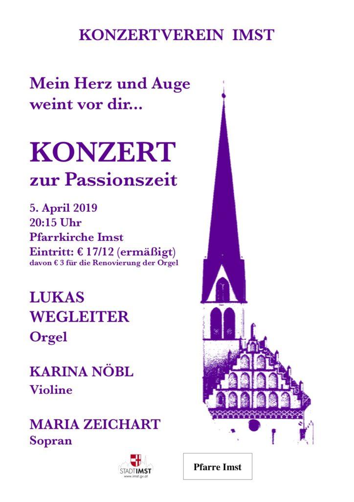 Konzertverein Imst Passionskonzert 2019