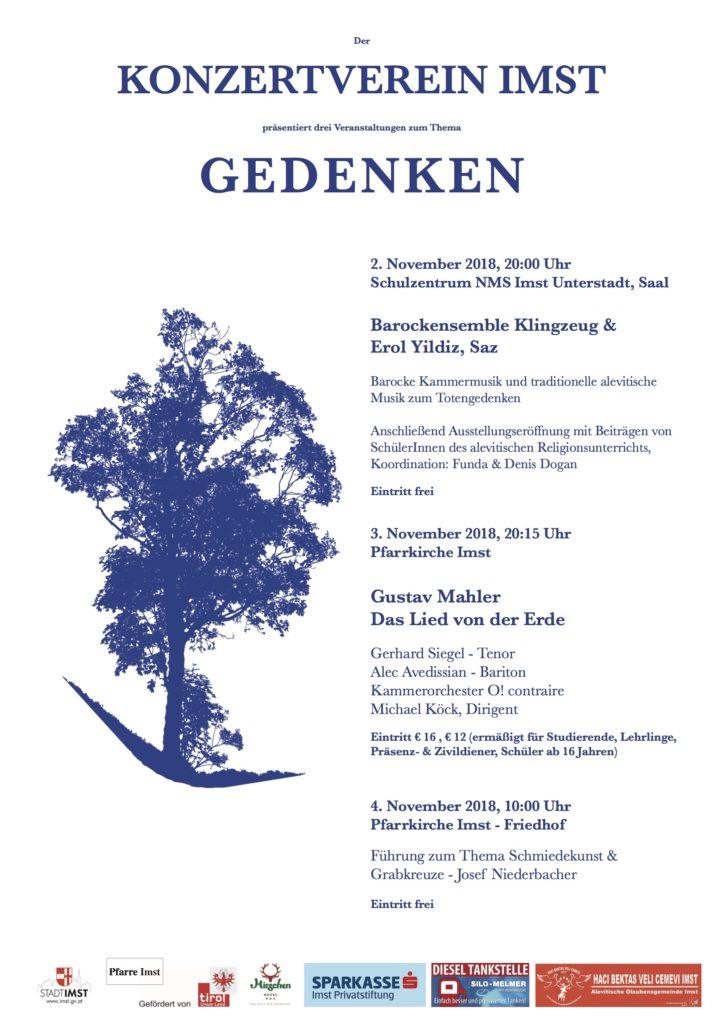 Konzertverein Nov2018 Gedenken Plakat
